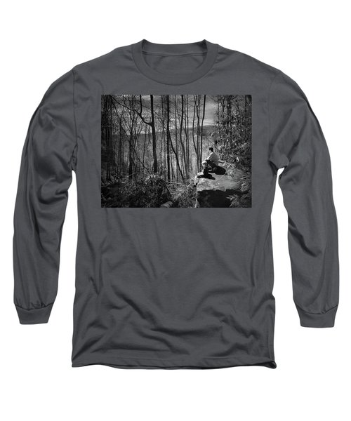 Overlook By Rainbow Falls Long Sleeve T-Shirt by Kelly Hazel