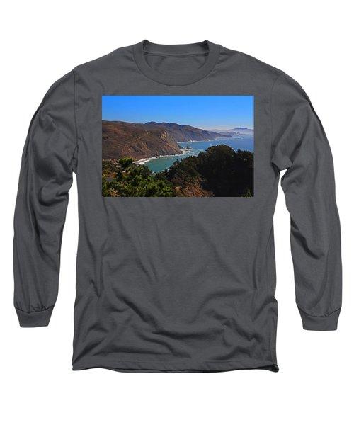 Overlooking Marin Headlands Long Sleeve T-Shirt by Michiale Schneider