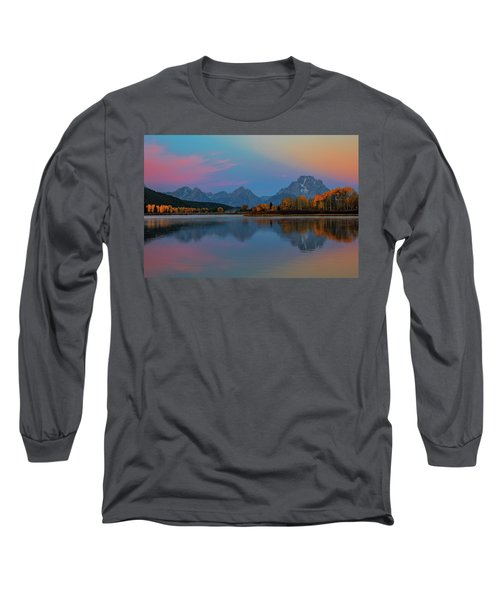 Oxbows Reflections Long Sleeve T-Shirt by Edgars Erglis