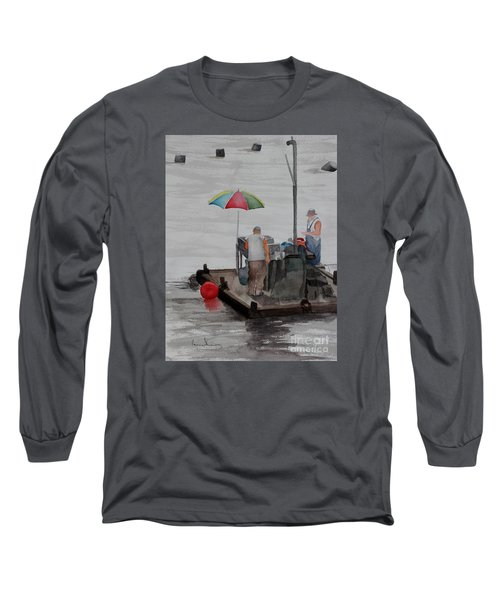 Oystering On Tomales Bay Long Sleeve T-Shirt
