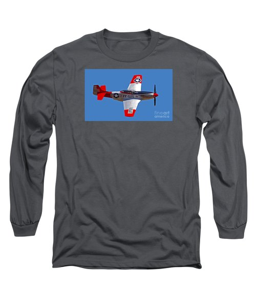 P-51d Mustang Flyby Long Sleeve T-Shirt