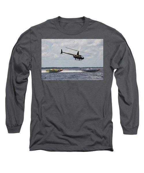 P1 Powerboats Long Sleeve T-Shirt by David Grant