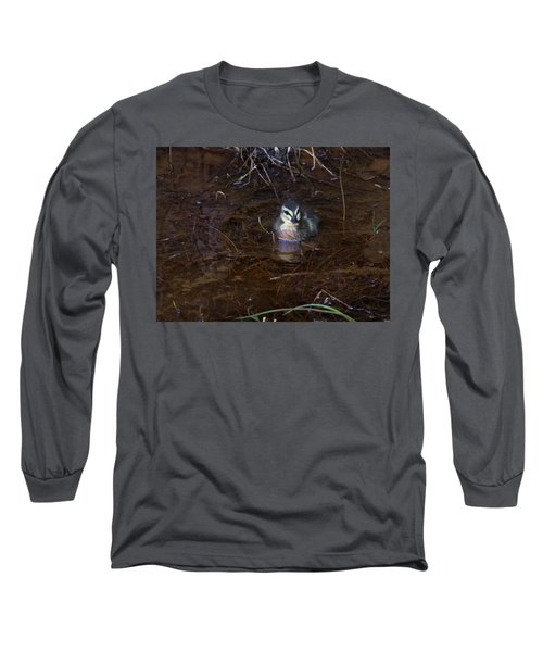 Long Sleeve T-Shirt featuring the photograph Pacific Black Duckling by Miroslava Jurcik