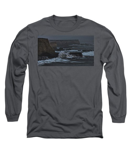 Pacific Cliffs Of Davenport Long Sleeve T-Shirt