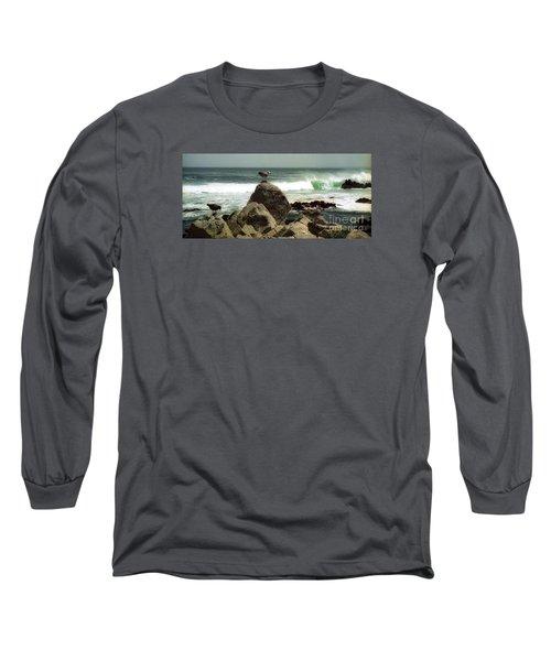 Pacific Coast Beach Rock Long Sleeve T-Shirt