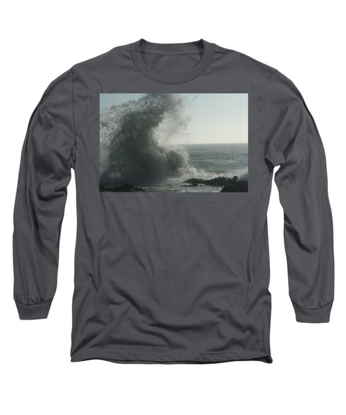 Pacific Crash Long Sleeve T-Shirt by Laddie Halupa