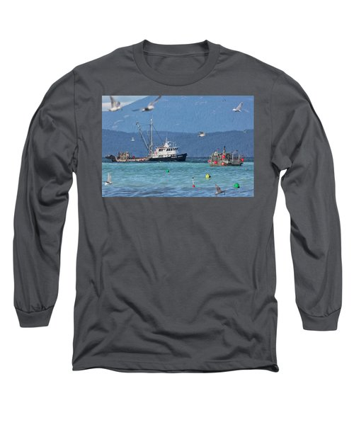 Long Sleeve T-Shirt featuring the photograph Pacific Ocean Herring by Randy Hall