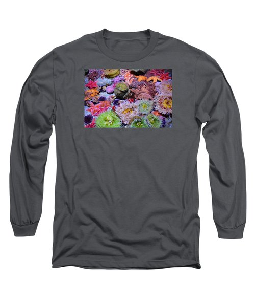 Pacific Ocean Reef Long Sleeve T-Shirt by Kyle Hanson