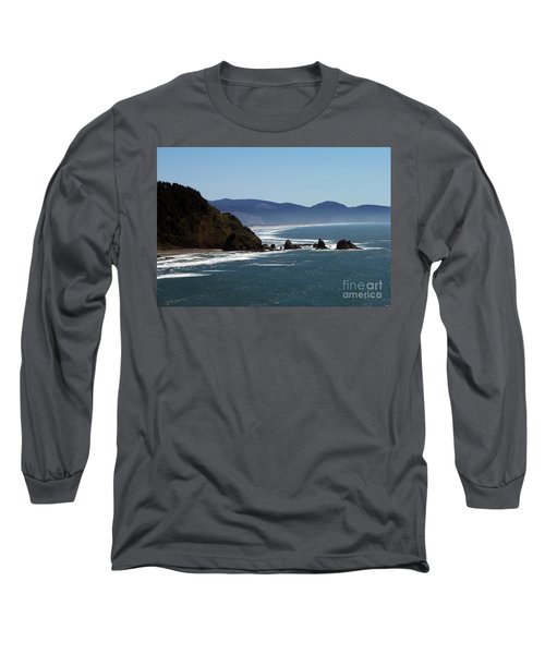 Pacific Ocean View 2 Long Sleeve T-Shirt by Chalet Roome-Rigdon
