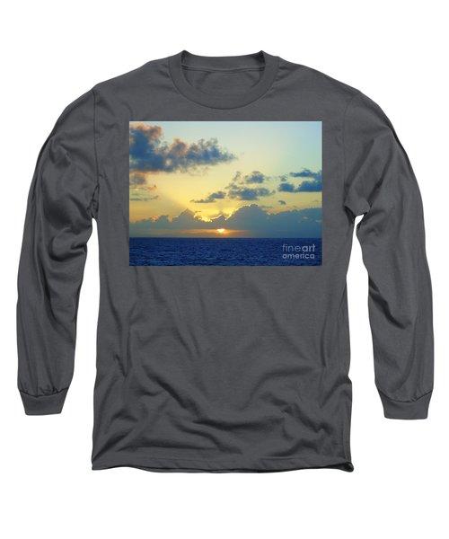 Pacific Sunrise, Japan Long Sleeve T-Shirt by Susan Lafleur