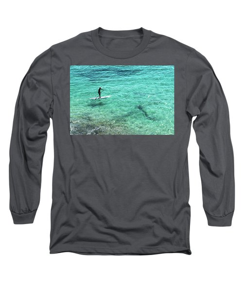 Paddle The Aqua Sea Long Sleeve T-Shirt