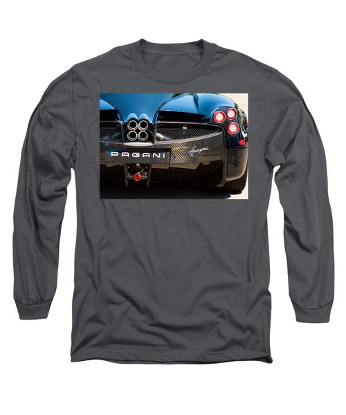 Pagani Huayra Black Long Sleeve T-Shirt