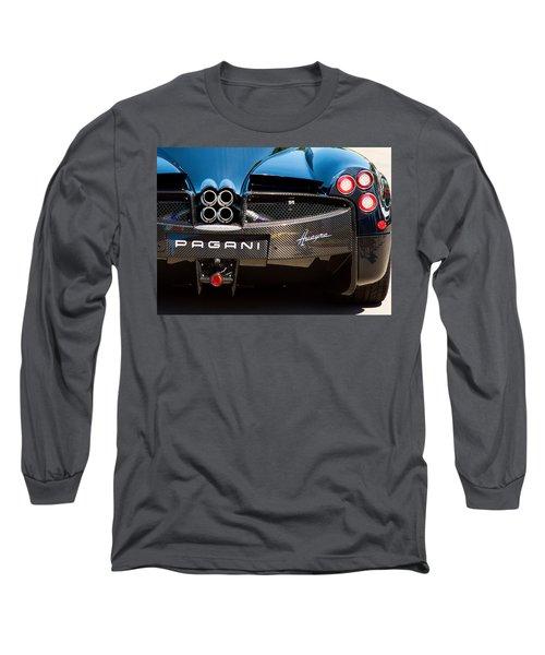 Pagani Huayra Black Long Sleeve T-Shirt