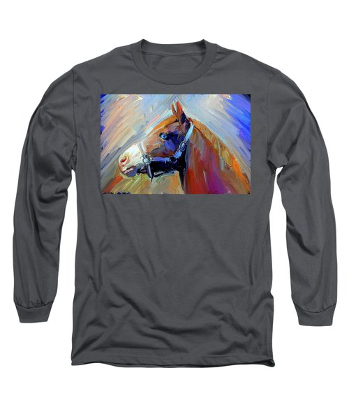 Painted Color Horse Long Sleeve T-Shirt