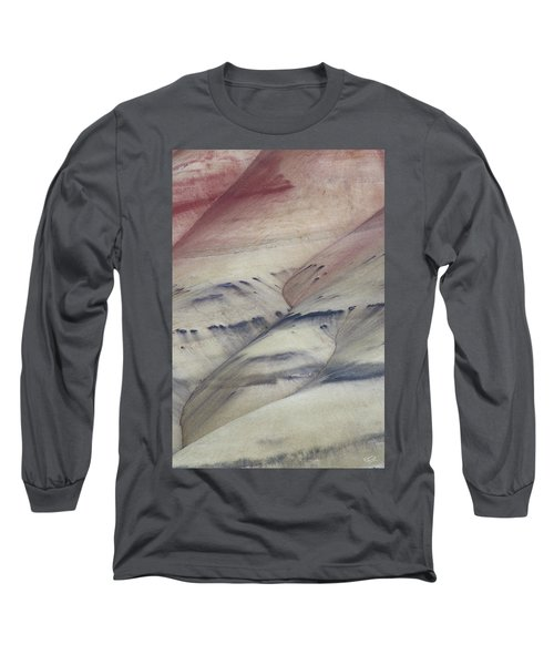 Painted Hills Textures 2 Long Sleeve T-Shirt by Leland D Howard