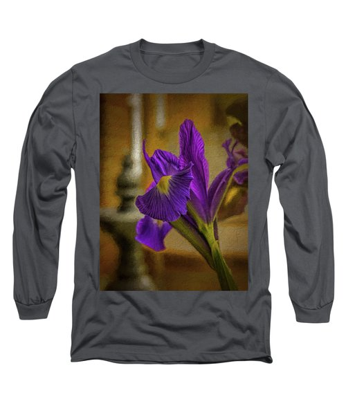 Painted Iris Long Sleeve T-Shirt