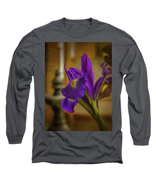 Painted Iris Long Sleeve T-Shirt