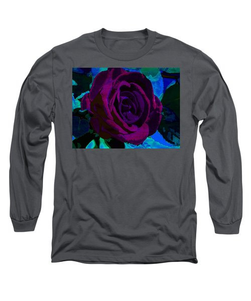 Painted Rose Long Sleeve T-Shirt by Samantha Thome