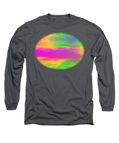 Painted Sky - Abstract Long Sleeve T-Shirt