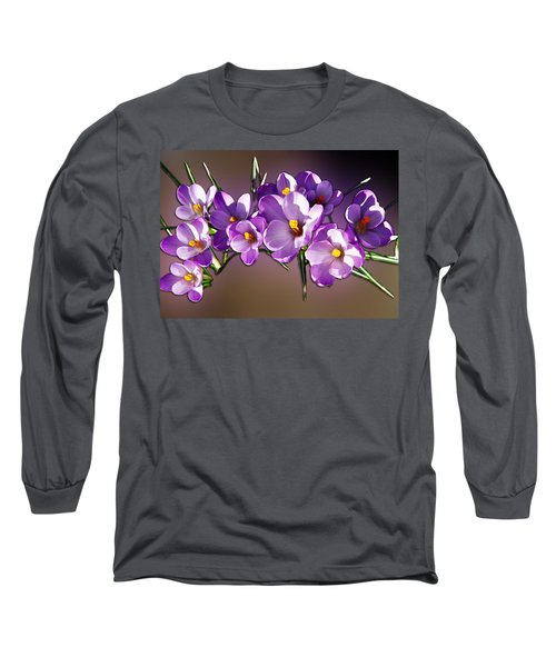 Long Sleeve T-Shirt featuring the photograph Painted Violets by John Haldane