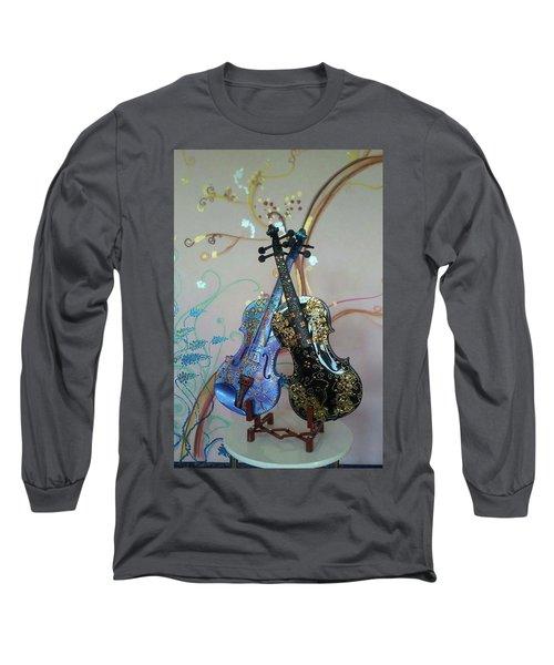 Painted Violins Long Sleeve T-Shirt