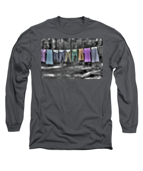 Painted Washline In Plymouth Nh Long Sleeve T-Shirt