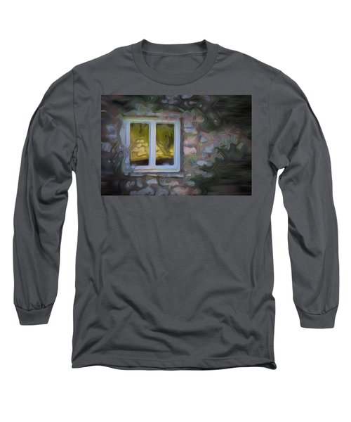 Painted Window Long Sleeve T-Shirt by Carol Crisafi