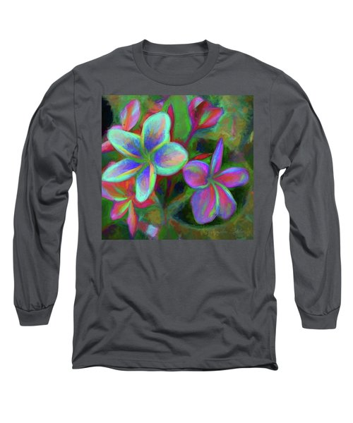 Painterly Frangipanis Long Sleeve T-Shirt