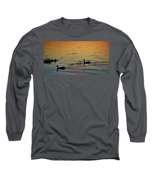 Pair Of Paddlers Long Sleeve T-Shirt by William Bartholomew