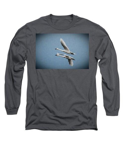 Pair Of Tundra Swan Long Sleeve T-Shirt