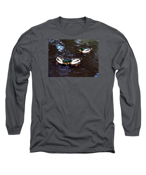 Long Sleeve T-Shirt featuring the photograph Pair Off In Threes by Nick Kloepping