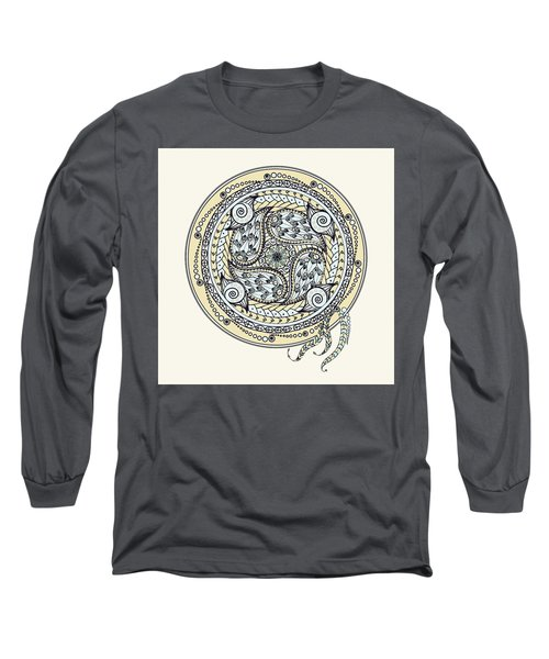 Paisley Balance Mandala Long Sleeve T-Shirt by Deborah Smith