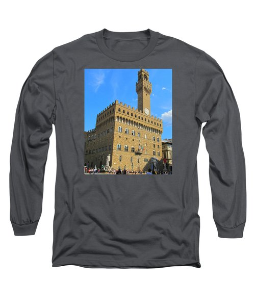Palazzo Vecchio Florence Long Sleeve T-Shirt by Lisa Boyd