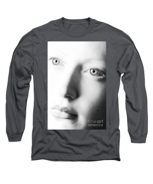 Pale Moonlight Long Sleeve T-Shirt by Robert WK Clark