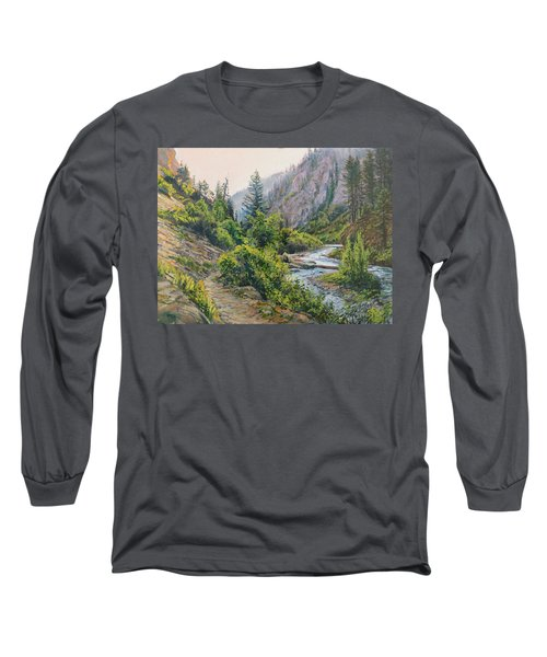 Palisades Creek  Long Sleeve T-Shirt by Steve Spencer