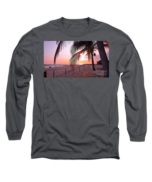 Palm Collection - Sunset Long Sleeve T-Shirt by Victor K