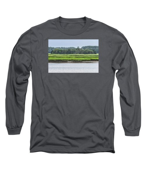 Long Sleeve T-Shirt featuring the photograph Palm Island by Margaret Palmer