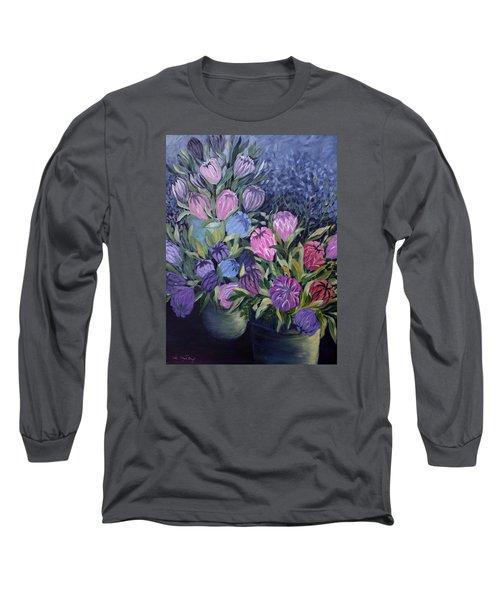 Palm Springs Market Favorites Long Sleeve T-Shirt by Joanne Smoley