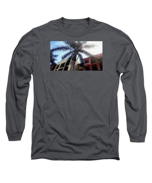 Palm Tree Art Long Sleeve T-Shirt by Rena Trepanier