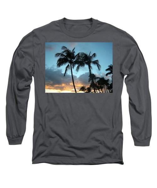 Palm Trees At Sunset Long Sleeve T-Shirt