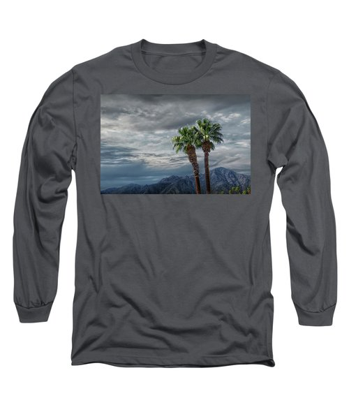 Long Sleeve T-Shirt featuring the photograph Palm Trees By Borrego Springs In The Anza-borrego Desert State Park by Randall Nyhof