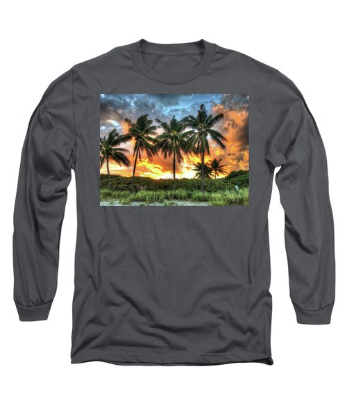Long Sleeve T-Shirt featuring the photograph Palms On Fire by Steven Lebron Langston