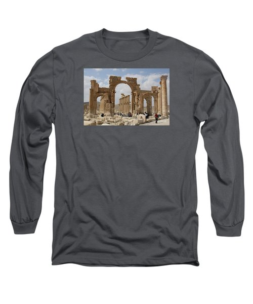 Palmyra Before...triumphal Arch Long Sleeve T-Shirt