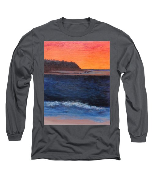 Long Sleeve T-Shirt featuring the painting Palos Verdes Sunset by Jamie Frier