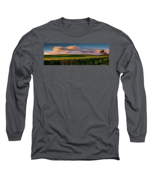 Long Sleeve T-Shirt featuring the photograph Palouse Tree Of Life by Dan Mihai