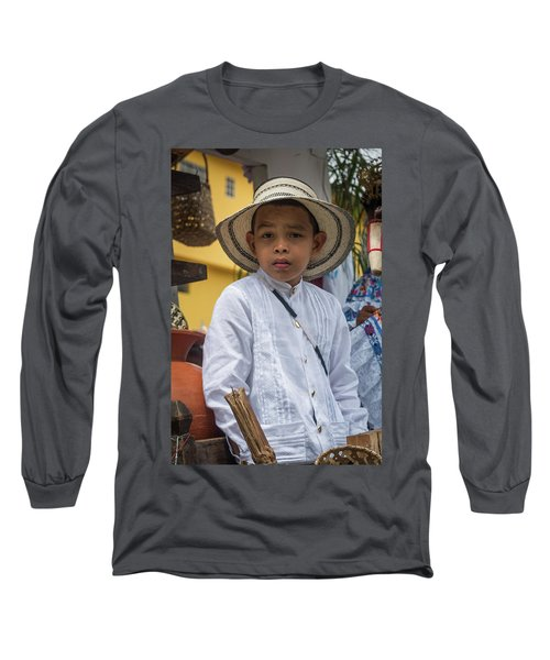 Panamanian Boy On Float In Parade Long Sleeve T-Shirt