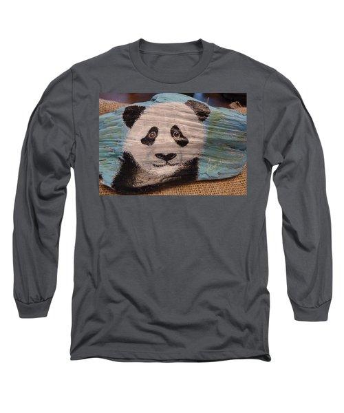 Panda Long Sleeve T-Shirt by Ann Michelle Swadener
