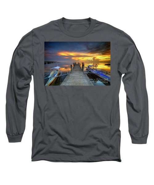 Long Sleeve T-Shirt featuring the photograph Panglao Port Sunset 8.0 by Yhun Suarez