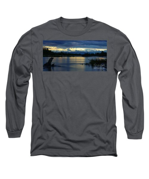 Pano Alaska Midnight Sunset Long Sleeve T-Shirt