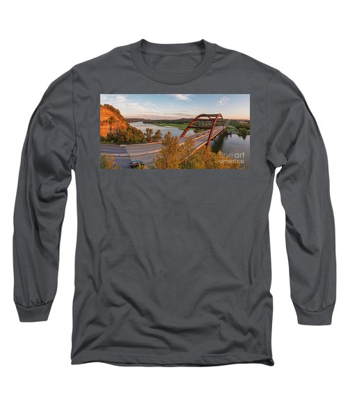 Panorama Of Lake Austin And Texas Hill Country From Highway 360 Overlook - Austin Texas Long Sleeve T-Shirt